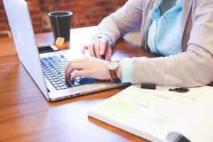 Blogg webb och företagande